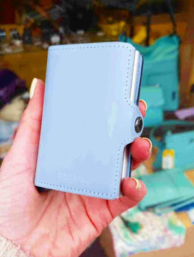 twinwallet secrid matte blue lichtblauw