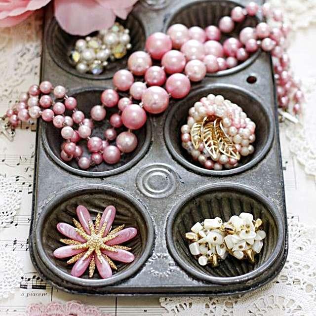 bewaar sieraden in cupcake vorm
