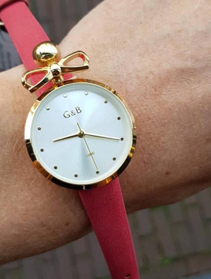 horloge goud strik