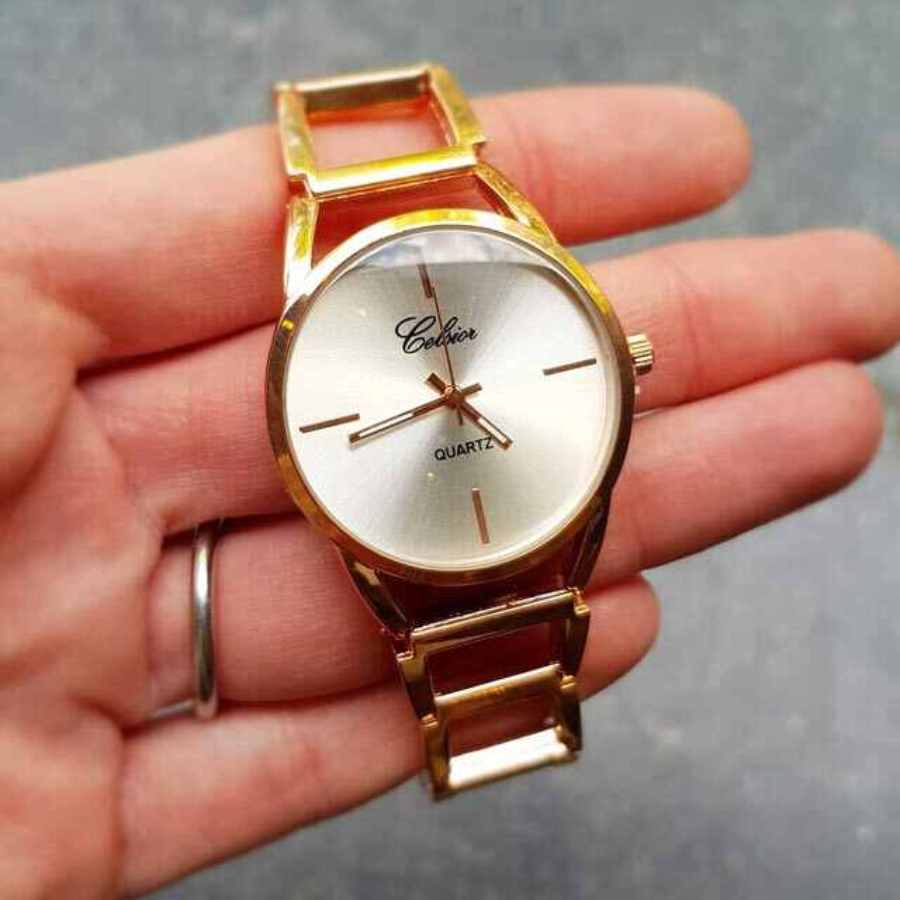 Stijlvol horloge stalen band in rosé