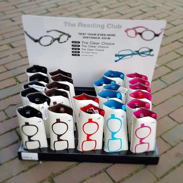 leesbrillen vierkant en rond glas