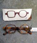 bruine leesbril twee verschillende glazen