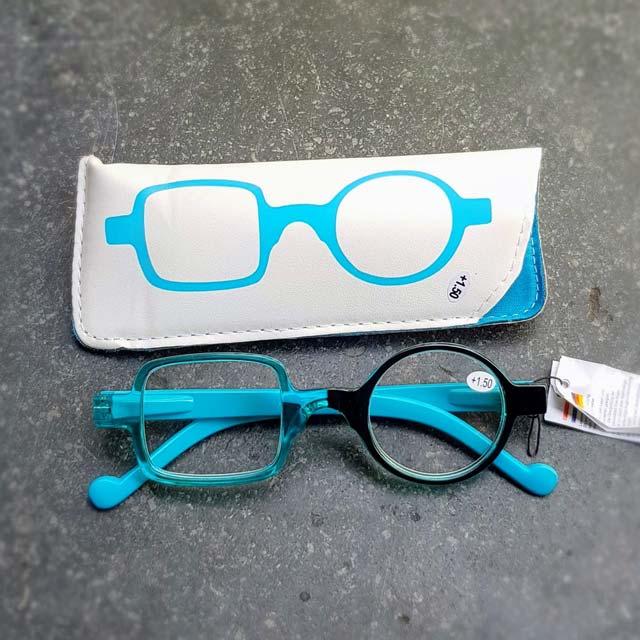 turquoise leesbril