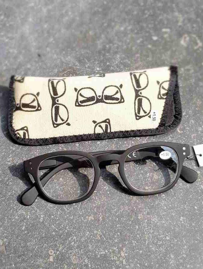 zwarte leesbril mat
