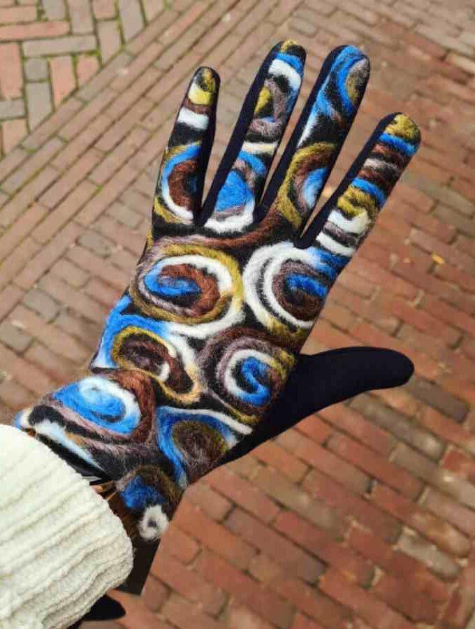 Heerlijk zachte handschoen cirkels