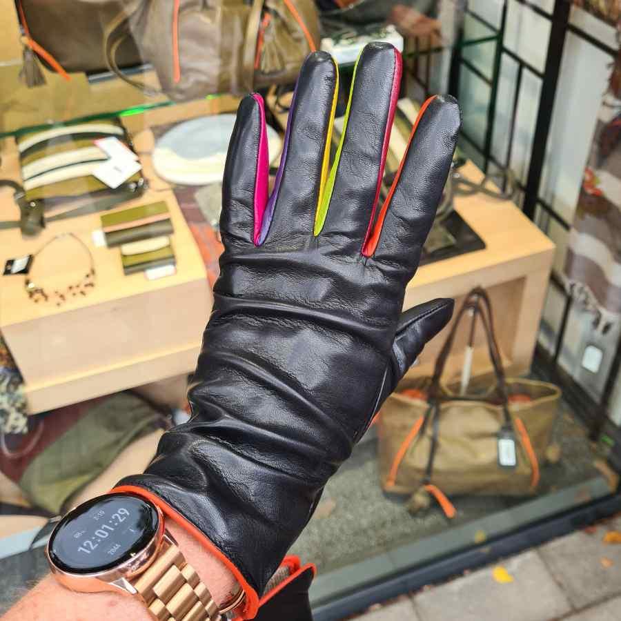 Handschoen mywalit gekleurde vingers