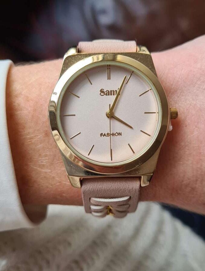 roze horloge goud