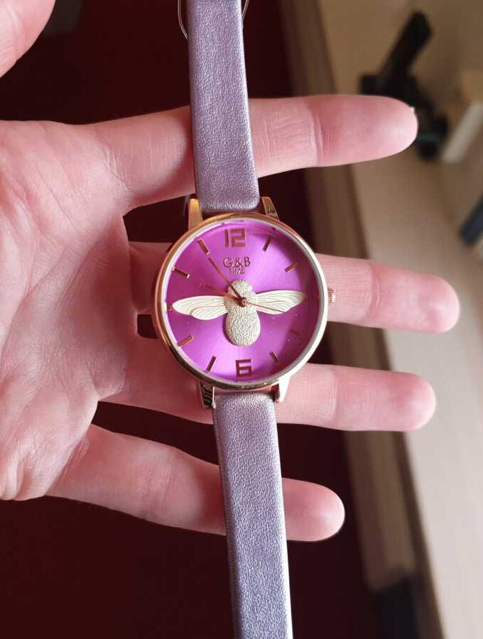 paars horloge insect
