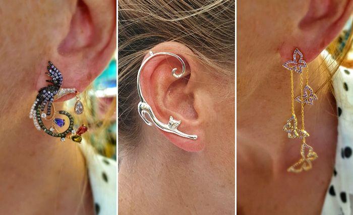 opvallende oorbellen