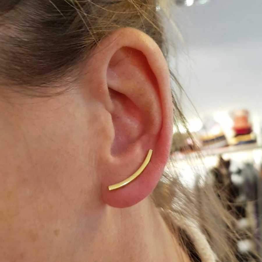 earcuff goud oorbel