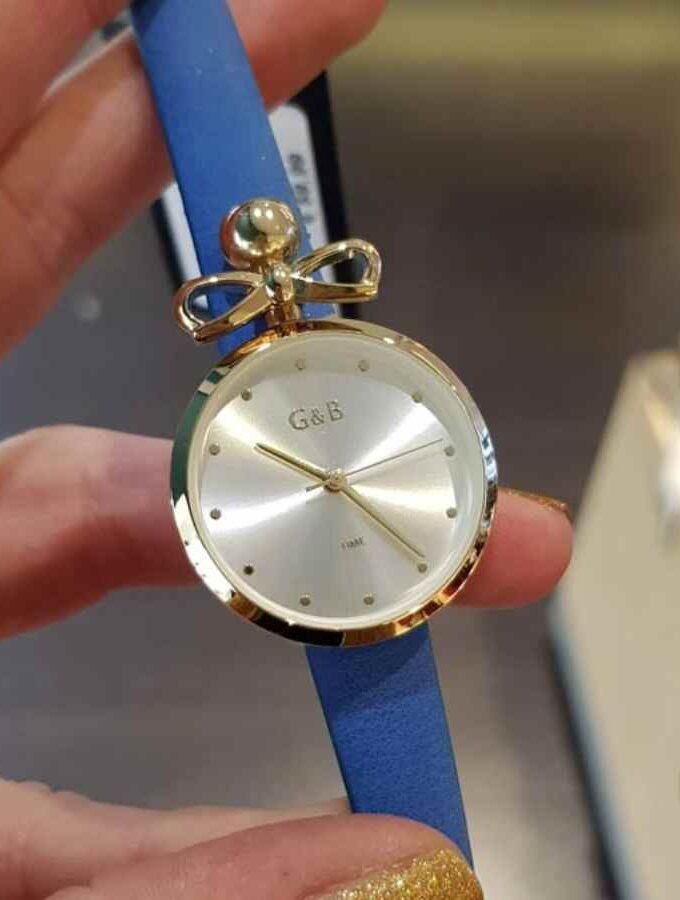 horloge smalle band en strik