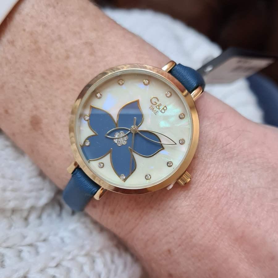 horloge bloem parelmoer