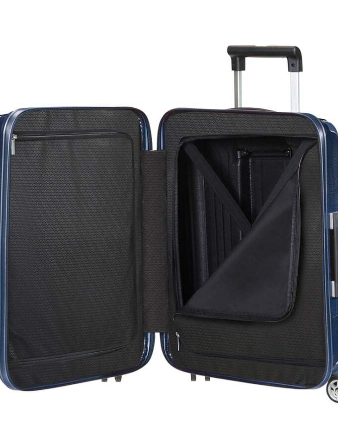 Samsonite Lite-Box Spinner 55cm Deep Blue binnenkant