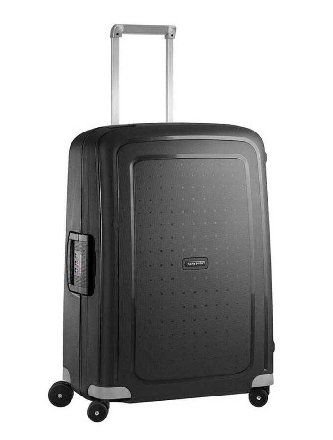 Samsonite koffer zwart vier wielen
