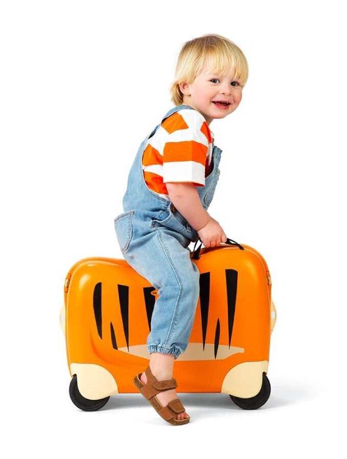 Samsonite Dream Rider kindertrolley met tijger