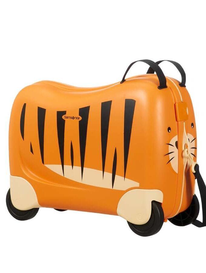 Samsonite Dream Rider kindertrolley met tijger schouderband