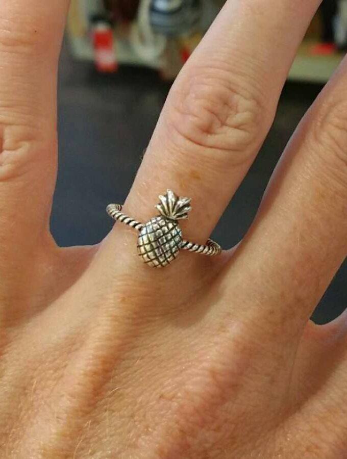 ring ananas zilver subtiel klein