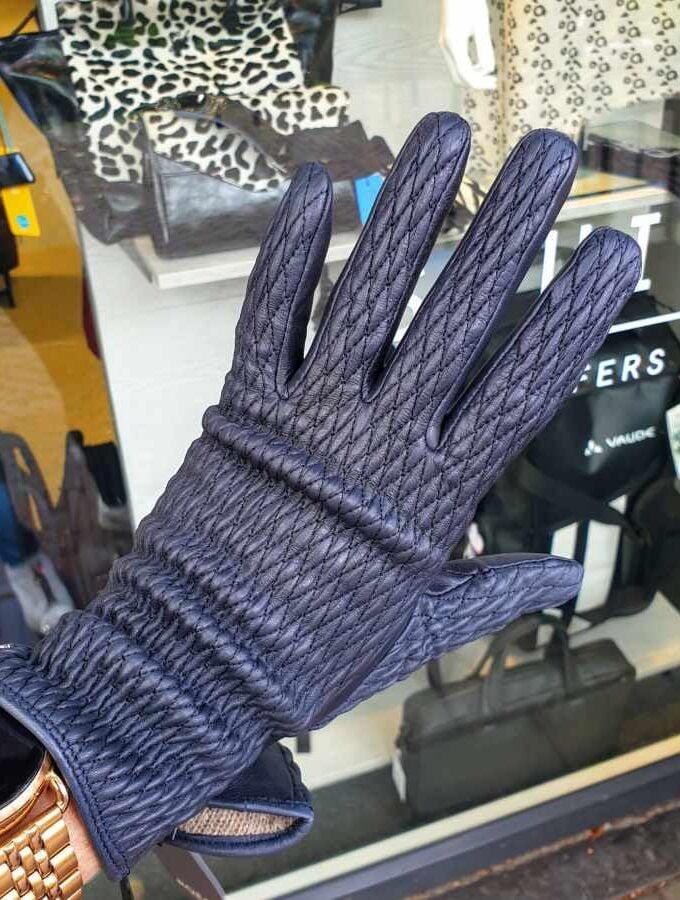 Blauwe handschoen dames Roeckl