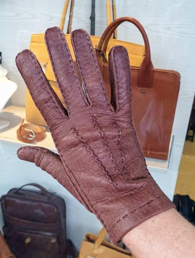 Peccary handschoenen bruin