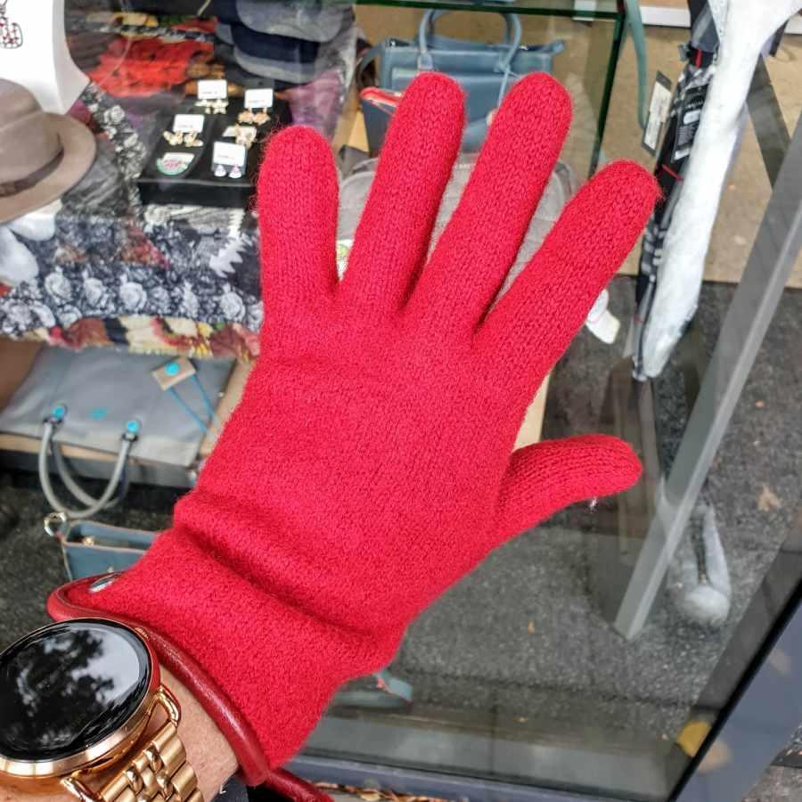 'Rode handschoen wol dames roeckl
