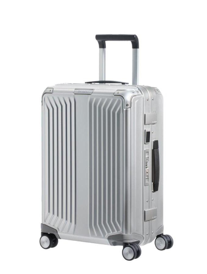 Samsonite Lite-Box Alu Spinner 55cm Zilver