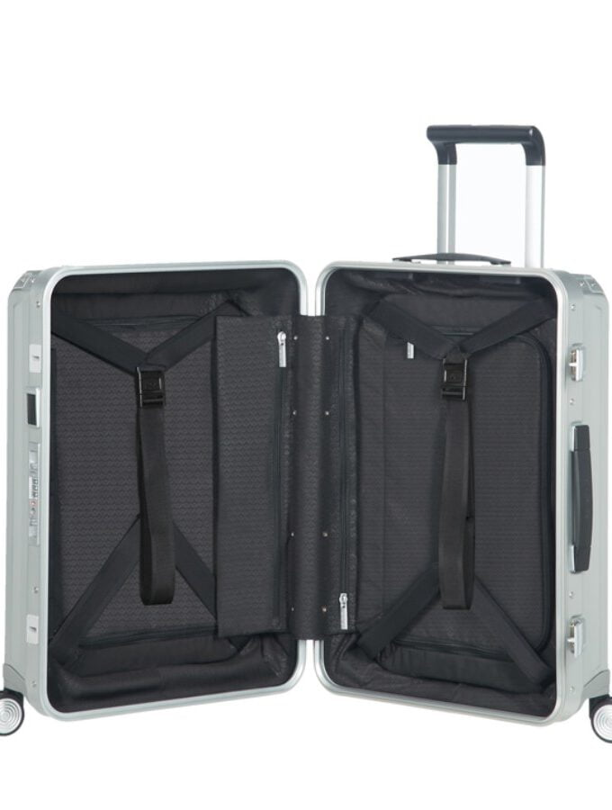 Samsonite Lite-Box Alu Spinner 55cm Zilver interior