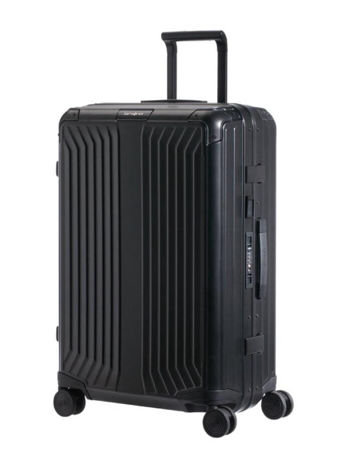 Samsonite Lite-Box Alu Spinner 55cm Zwart