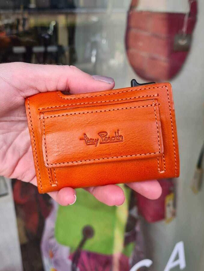 oranje portemonnee klein