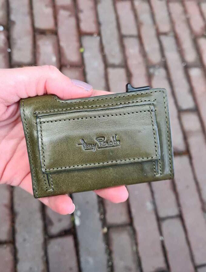 Tony Perotti kleine portemonnee muntgeld in groen