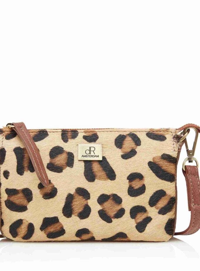 handtas clutch leopard DR Amsterdam