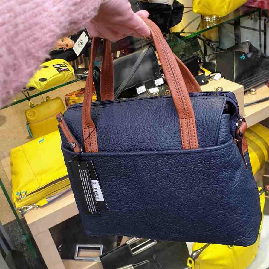 Berba Chamonix donkerblauwe handtas