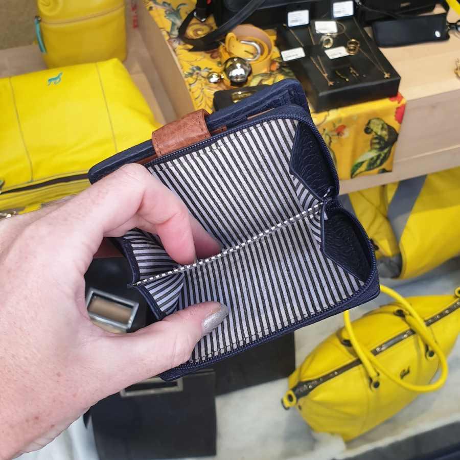 Berba Chamonix portemonnee donkerblauw