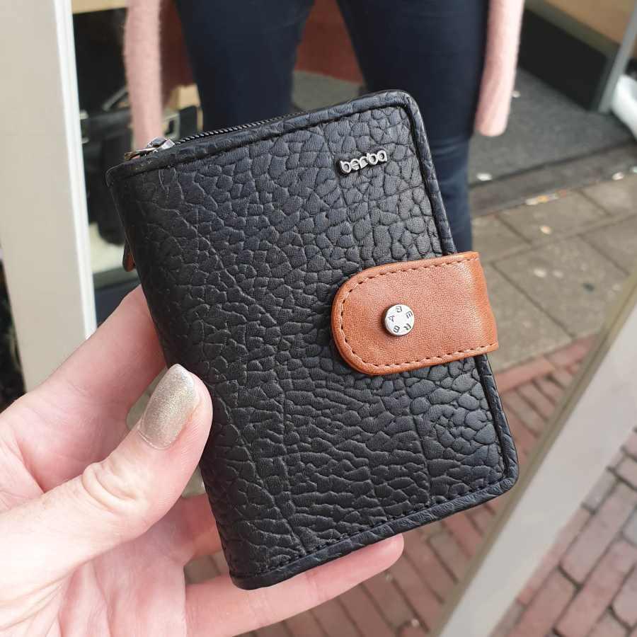 Berba Chamonix portemonnee in zwart