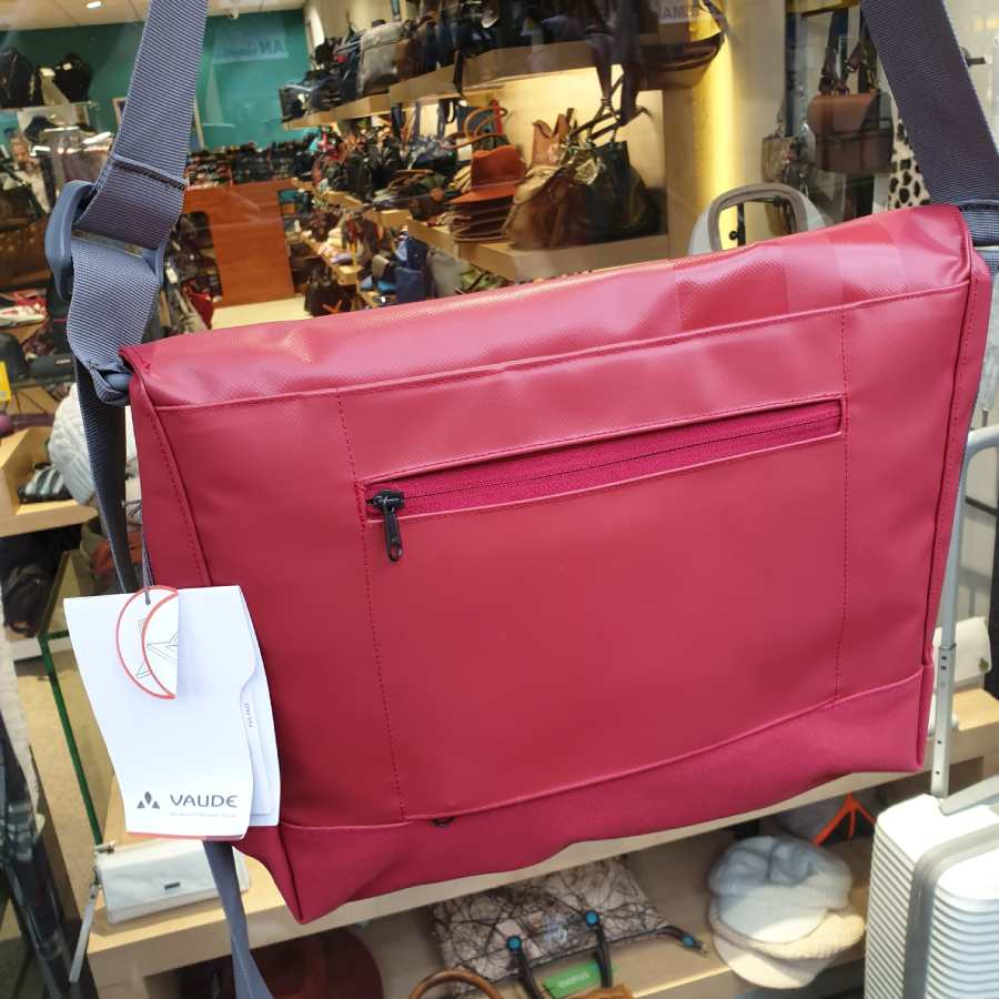 Vaude Wista M 13L schoudertas 13,3 inch laptop rood