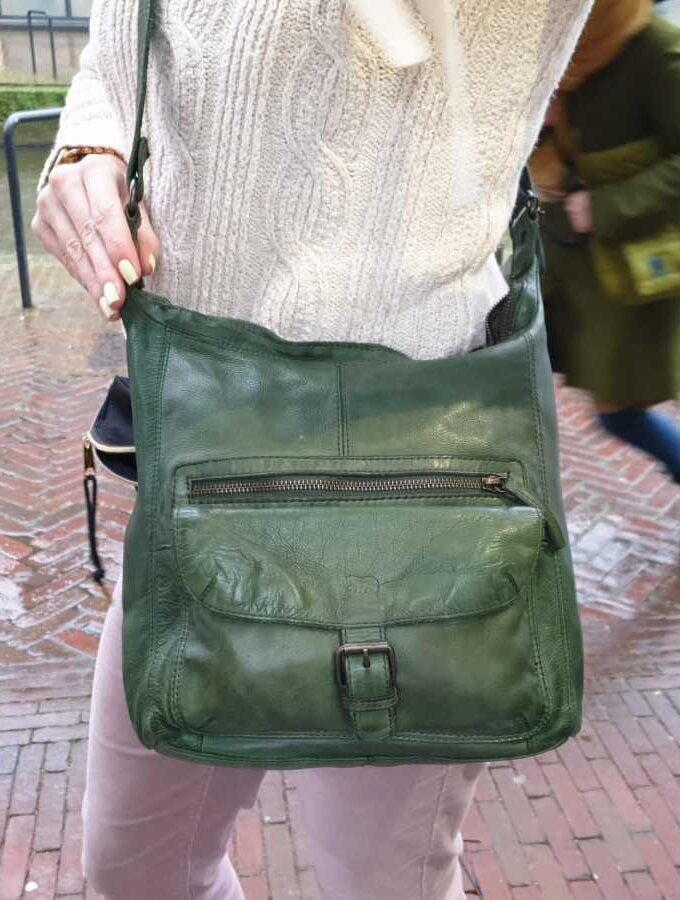 Bear Design buideltas met voorvak in groen