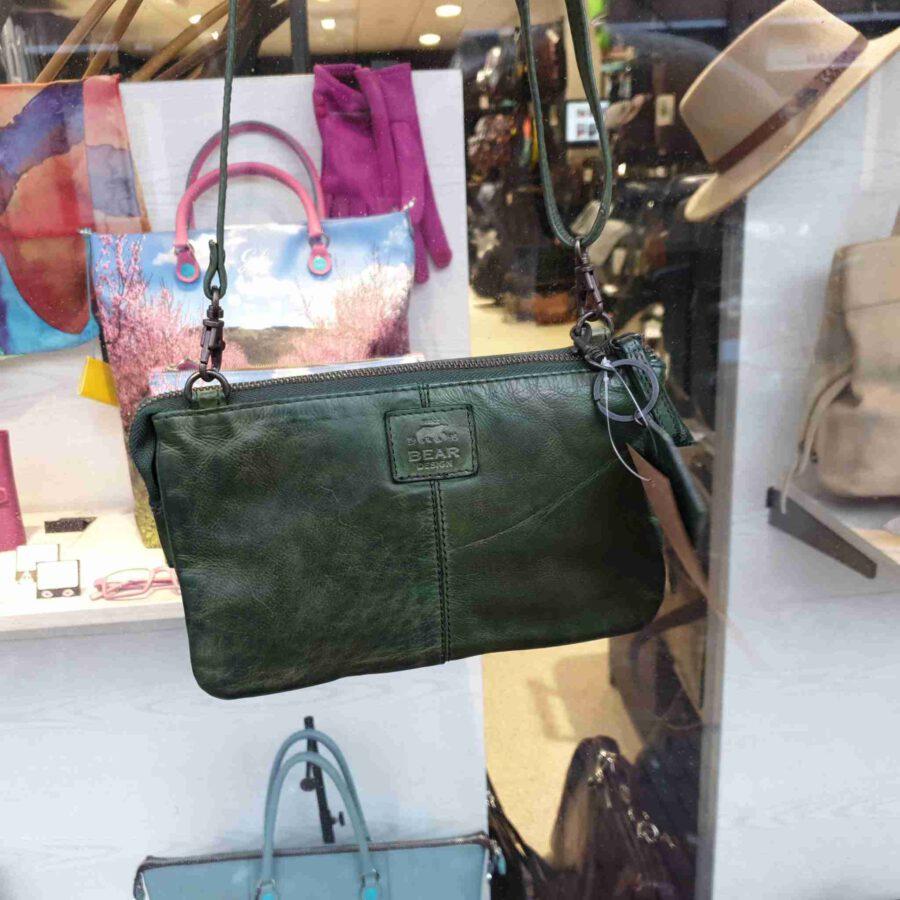Bear Design kleine clutch met vakjes in groen