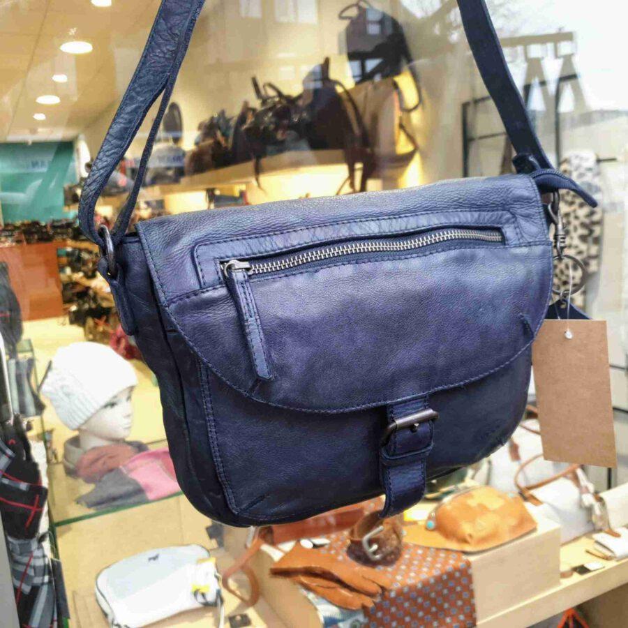 Bear Design schoudertas met klep in blauw