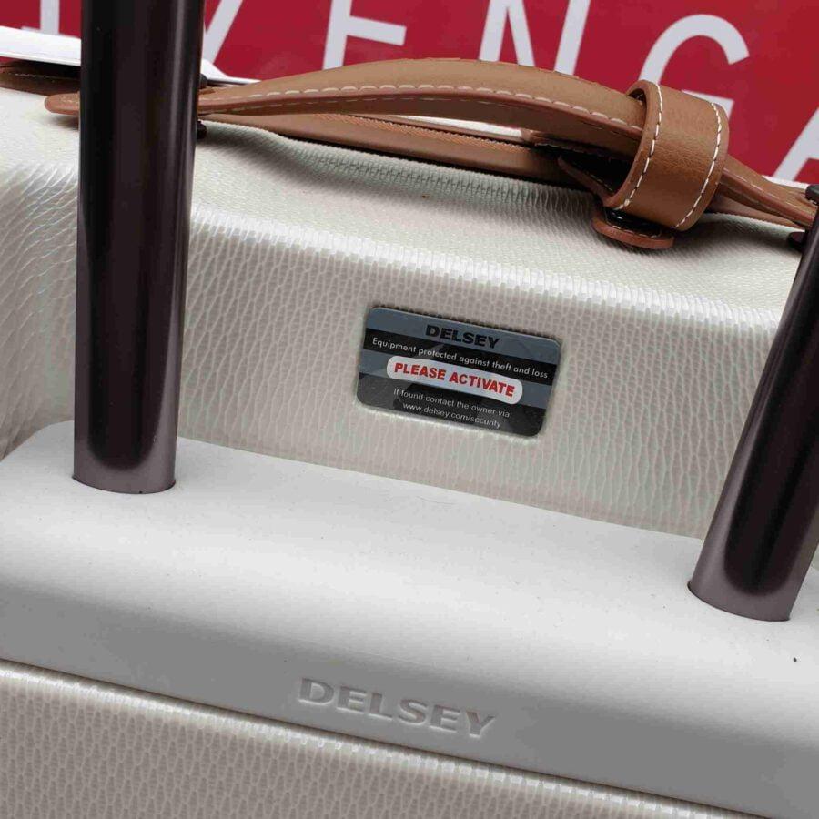 Desley Chatelet Air koffer 69cm wit met cognac