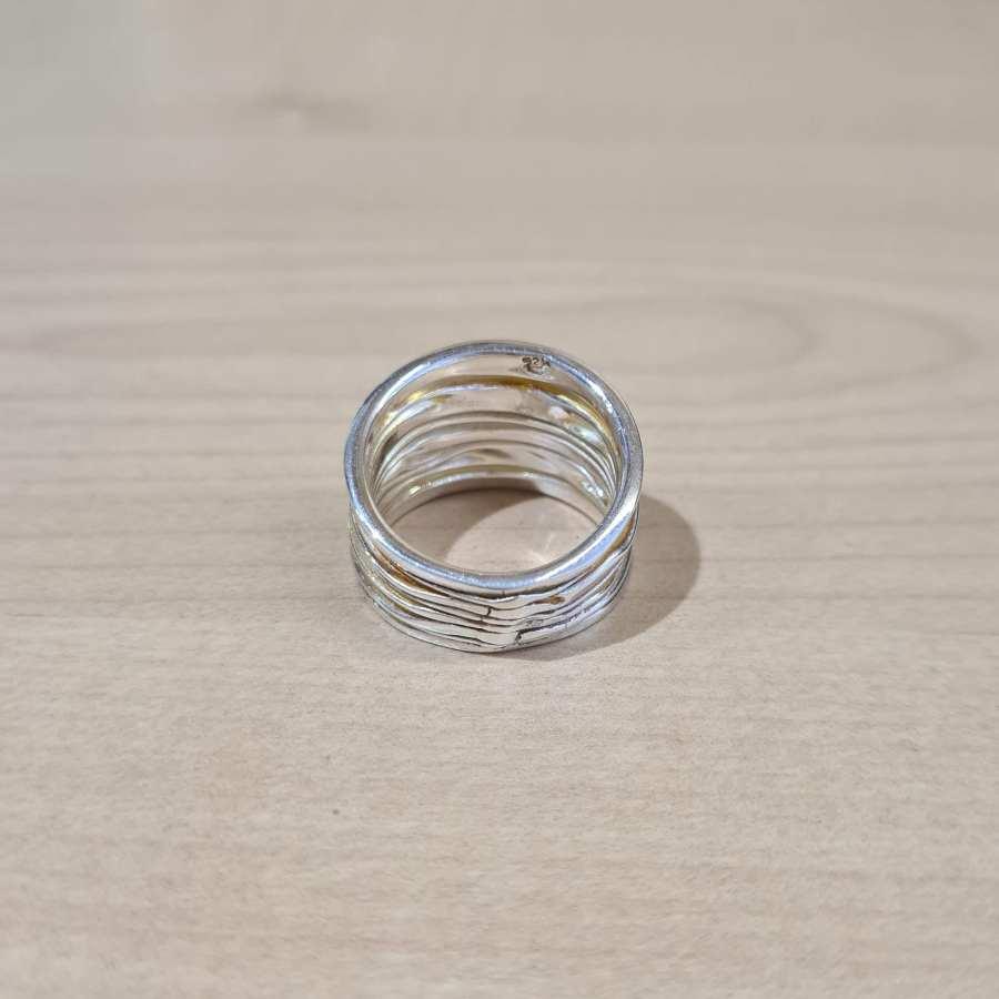 ring echt zilver achterkant