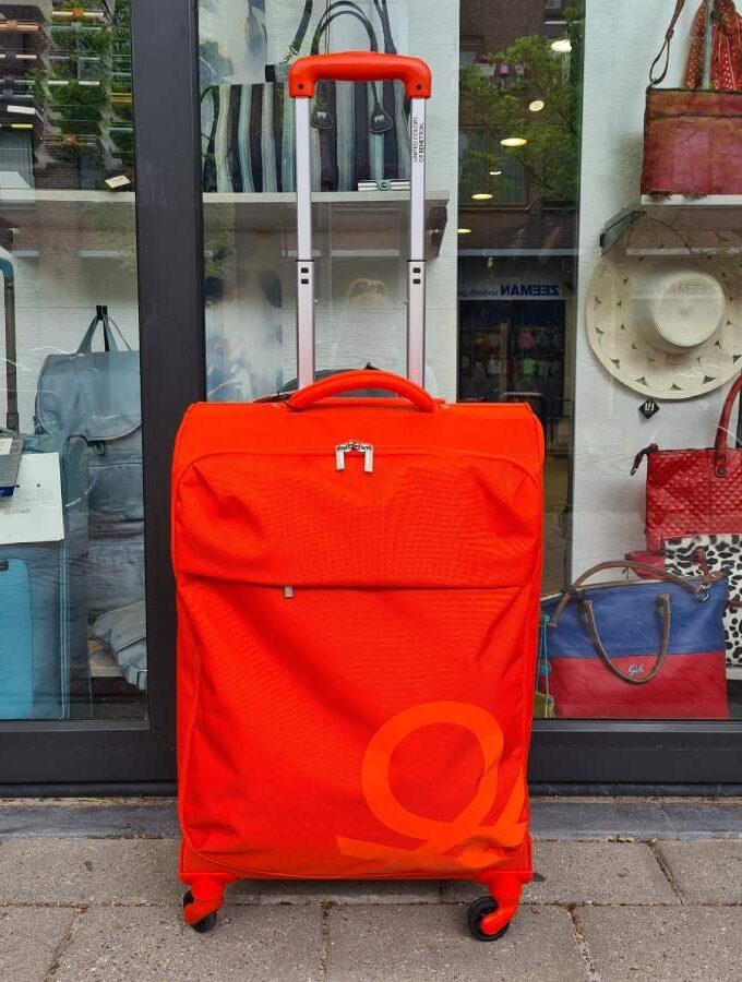 Benetton Blow Trolley 69cm zachte koffer oranje