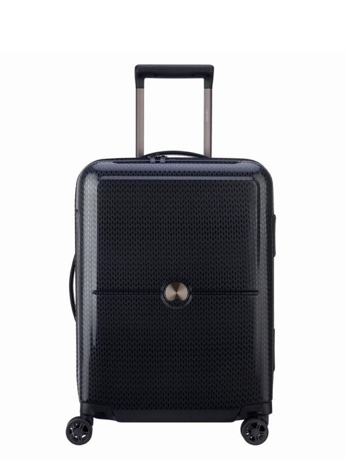 Delsey Turenne 55cm Slim 4 Wheels Cabin Trolley Black