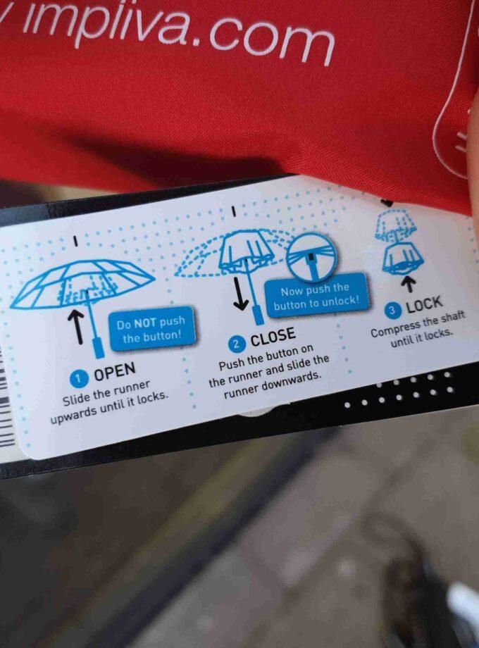 Impliva storm paraplu rood