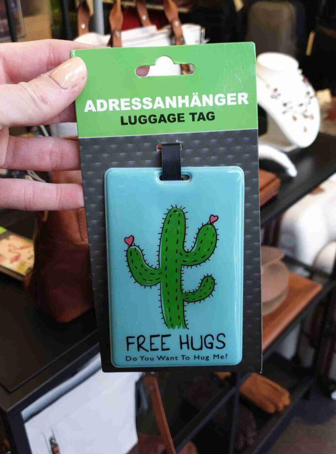 Kofferlabel cactus groen voor koffer of reistas