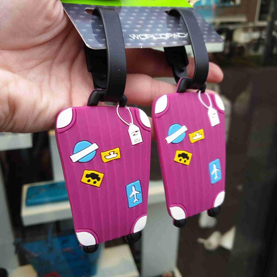 Kofferlabel rubber koffertje in diverse kleuren