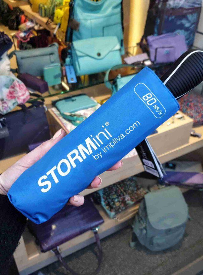 STORMini opvouwbare paraplu in lichtblauw