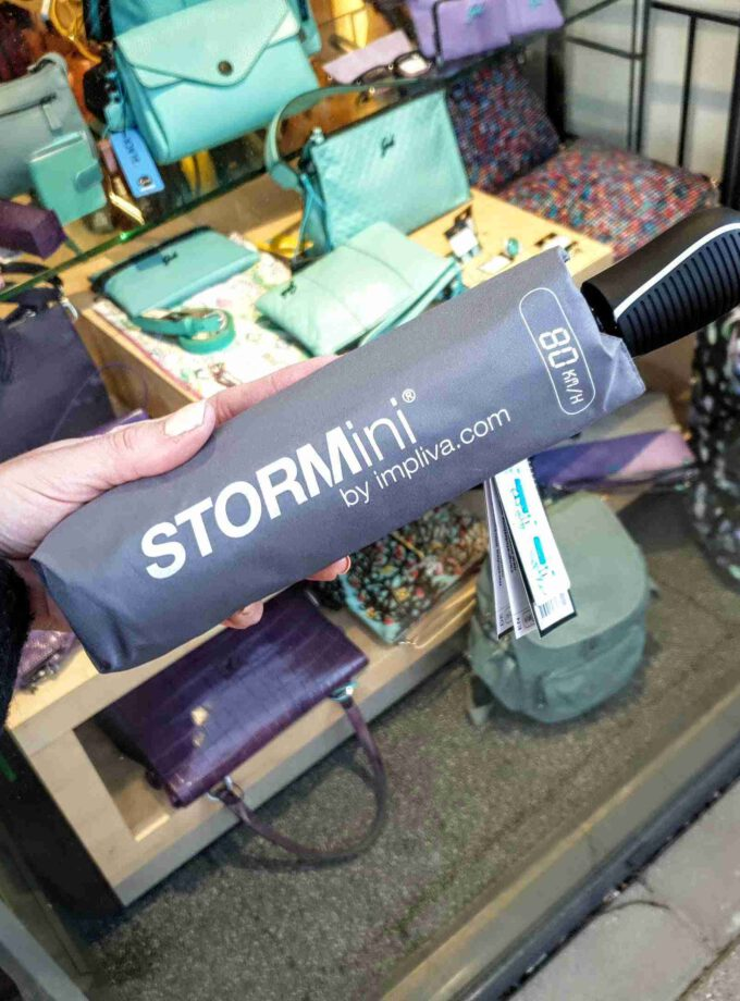 STORMini paraplu opvouwbaar stormproof grijs