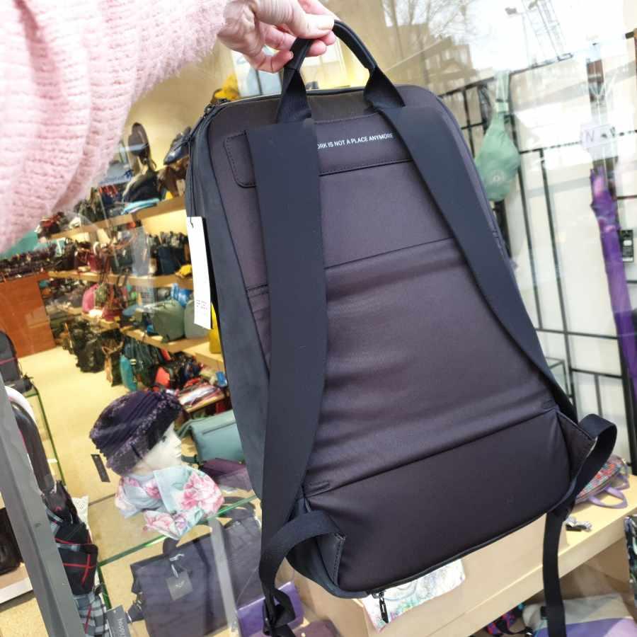 Salzen SAVVY Daypack Leather rugtas Charcoal Black