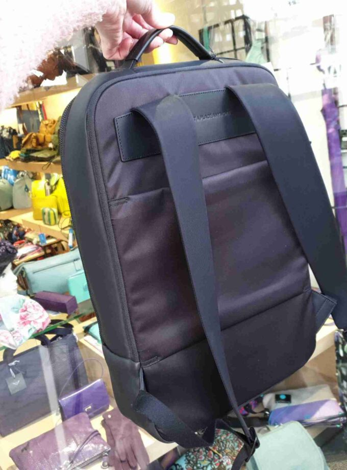 Salzen Sleek Line Backpack Leather Charcoal Black (1)