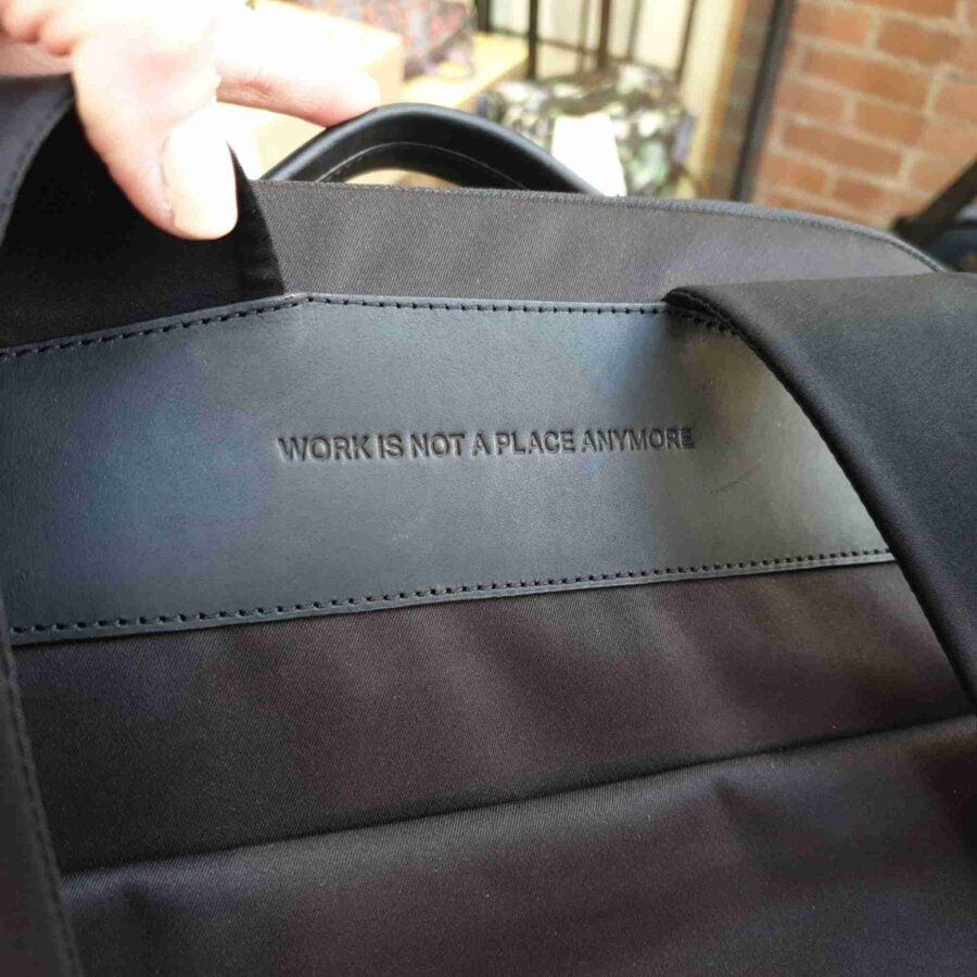 Salzen Sleek Line Backpack Leather Charcoal Black (1)