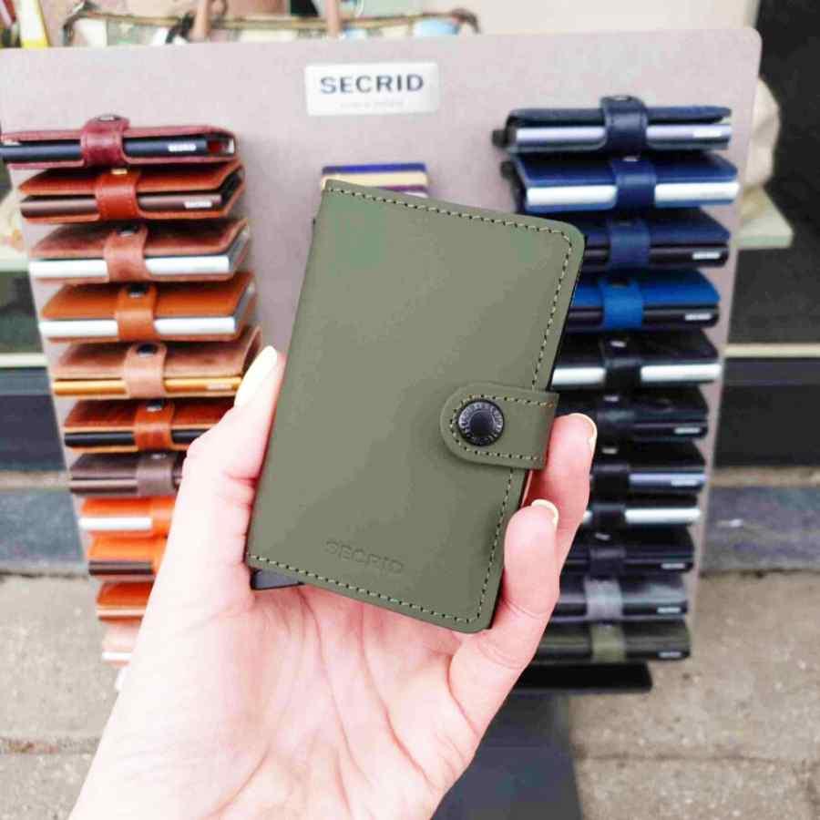 Secrid Miniwallet Matte Green voorkant